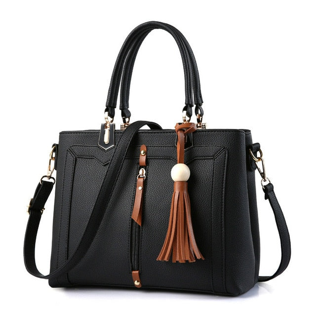 MONNET CAUTHY Female Bags Vintage Concise Office Lady Fashion Girls Handbags Solid Color Wine Red Black Green Dark Grey Totes