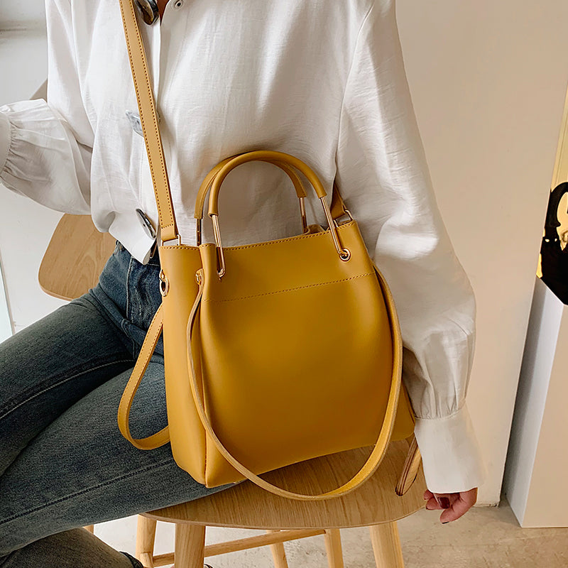 MONNET CAUTHY New Arrivals Female Bags Concise Fashion Occident Style Handbags Solid Color Yellow White Black Green Ladies Totes