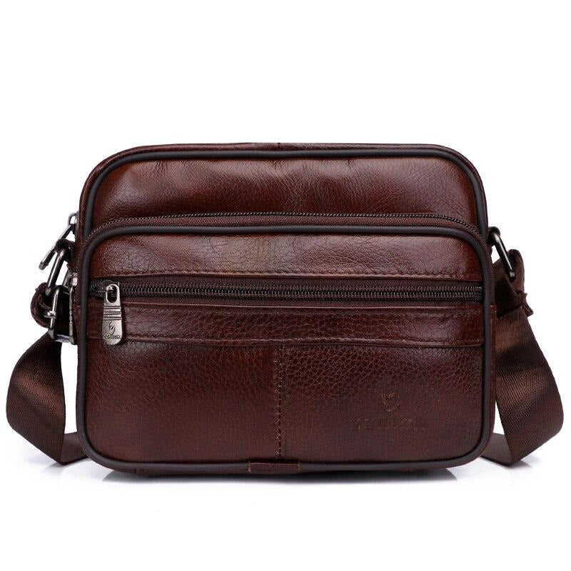 Men's Shoulder bag Messenger Bags Genuine Leather 2020 Flap Crossbody Handbag Male Leather Shoulder Bags Large Capacity ZZNICK