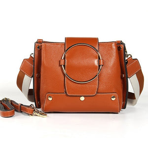 New Design 2018 Spring Fashion Vintage Genuine Leather Bag Female Small Women Handbags Bags Shoulder Crossbody Messenger Bag