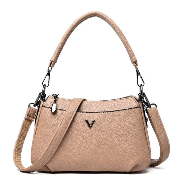 New High Quality Soft Leather Crossbody Bags For Women Luxury Handbags Women Bags Designer Ladies Hand Shoulder bags Sac A Main