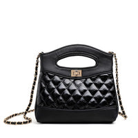 New Trend Lattice Small Women PU leather Messenger Clutch Bags Designer Mini Shoulder Lady Chain Crossbody Bags With Metal Buck