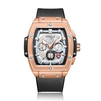 ONOLA tonneau square automatic mechanical watch man luxury brand unique wrist watch fashion casual classic designer watch male