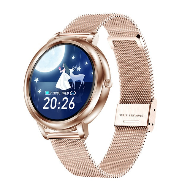 PADCA Lady Metal Sport Fitness Bracelet Female Smart Watch Cluse Female waterproof watches For Android IOS Women Smartwatch 2020