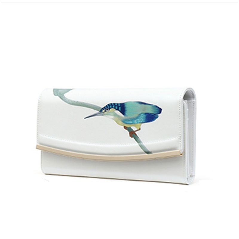 Pmsix Women Leather Clutch Bags Fashion Luxury Printing Women Bags Purses Ladies Cowhide Wallets