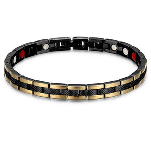 RainSo Fashion Stainless Steel Magnetic Bracelet for Women  Bio Energy Elements Link Chain Bracelets Health Care Jewelry 2019