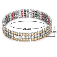 RainSo Stainless Steel Magnetic Charm Bracelets for Women Bio Energy Therapy Love Bracelet Femme Health Jewelry Friendship Gift