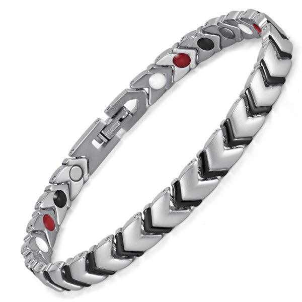 Rainso Titanium Health Power Bracelet Bangle For Women Jewelry with 4 Elements Magnetic Couples Accessories OTB-034