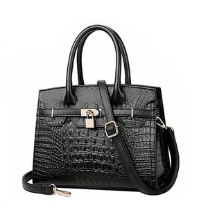SUWERER New Women leather bags fashion real Crocodile pattern luxury handbags women bags designer tote bags
