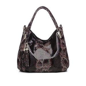 Tonny Kizz big handbags for women 2020 female shoulder bag serpentine leather tote bags high quality fashion hobos animal prints