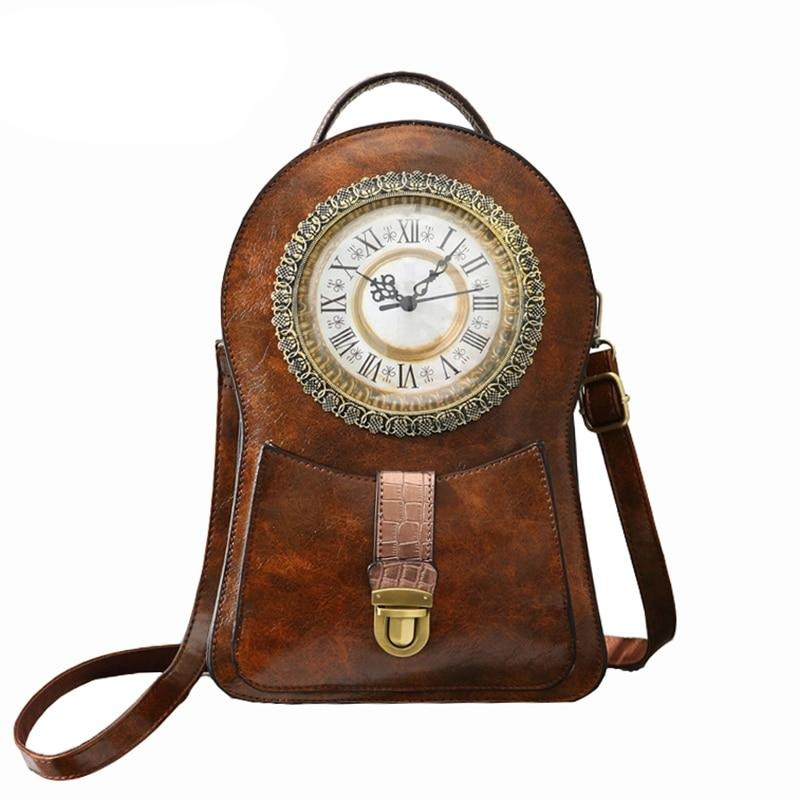 Vintage Clock Bag 2020 Womens Mochilas Mujer Backpack Women Bagpack Backpack Mochila Masculina Femme Hombre School Backpacks