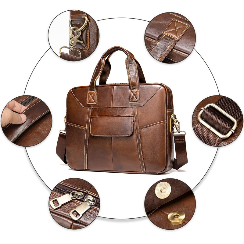 WESTAL Bag for men 2020 bag men's genuine leather handbags men's shoulder bags for 15 laptop crossbody messenger bag men leather