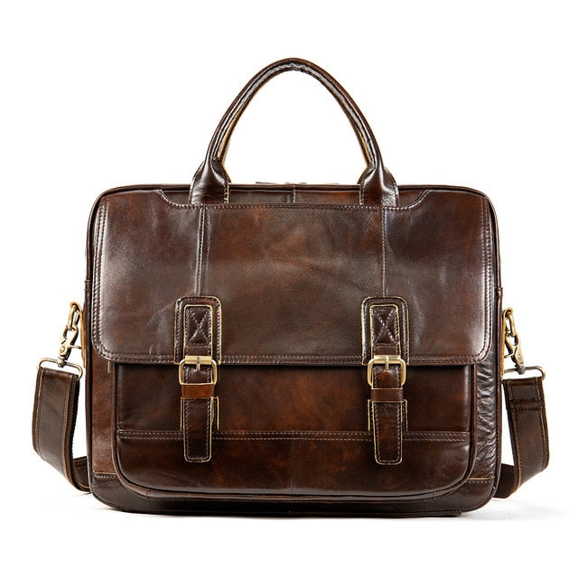 WESTAL men's briefcase  bag men's genuine leather laptop bag men vintage designer luxury brand porte document office bag for men