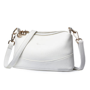 White Genuine Leather Small Tote Luxury Handbags Women Bags Designer Handbags High Quality Crossbody Bags For Women Shoulder Bag