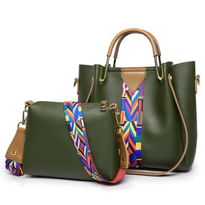Woman Bag Designer Bags Famous Brand Women 2 Pcs/Set Composite bags 2020 Female Leather Handbag Shoulder Messenger bag