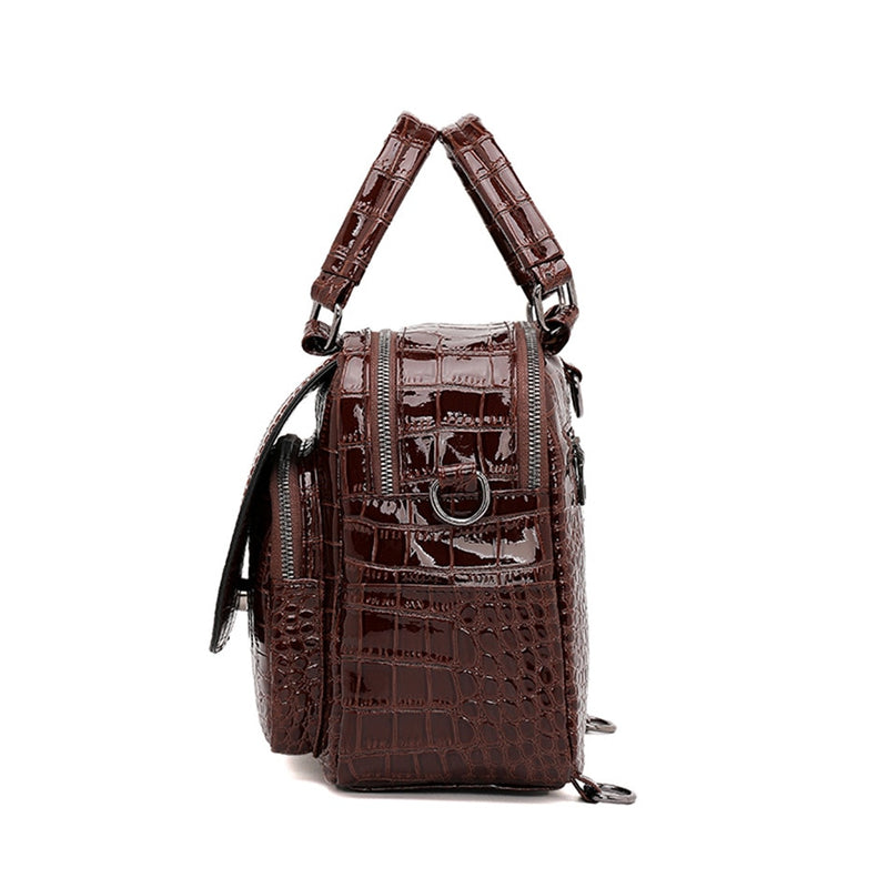 Women Backpacks Crocodile Pattern Leather Backpack Multi-function School Bags For Teenage Girls Shoulder Bags Bagpack Mochilas