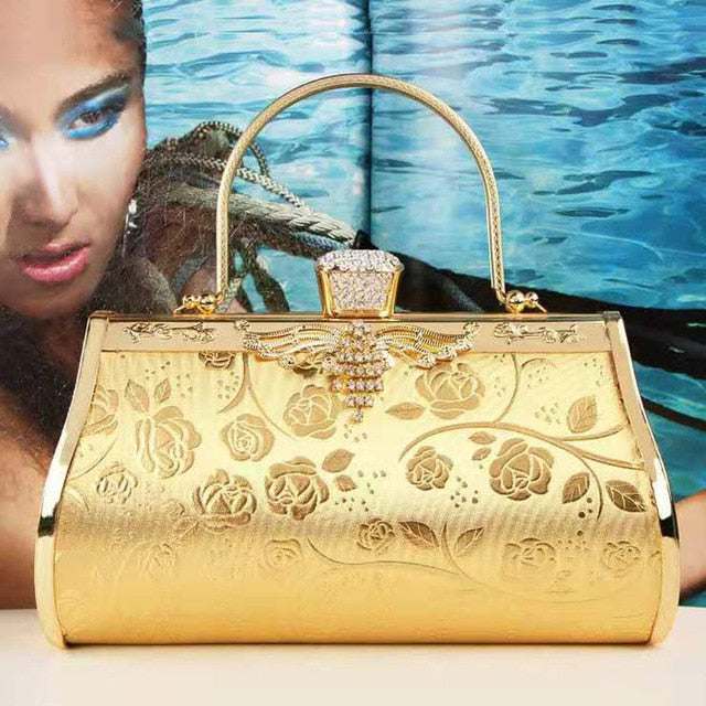 Women Luxury Handbags Diamonds Metal Small Day Clutch Party Evening Dress Evening Bags Wedding Female Purse Bags