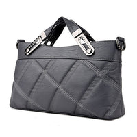 Women Plaid Bag Solid Color Crossbody Bags Versatile Clutch Fashion Soft Shoulder Bag Zipper Long Single Straps Ladies Handbag