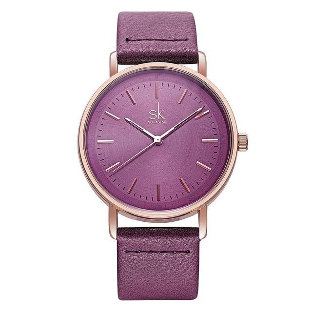 Women Watches Luxury Brand Quartz Wristwatches For Ladies Simple Casual Leather Waterproof Elegant Woman Wrist Watch Women Clock