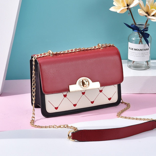 ZMQN Fashion Bags for Women Cute Messenger Bags Small Heart PU Leather Shoulder Bag For Girls Flap Chain Phone Bolsa 2019 A570