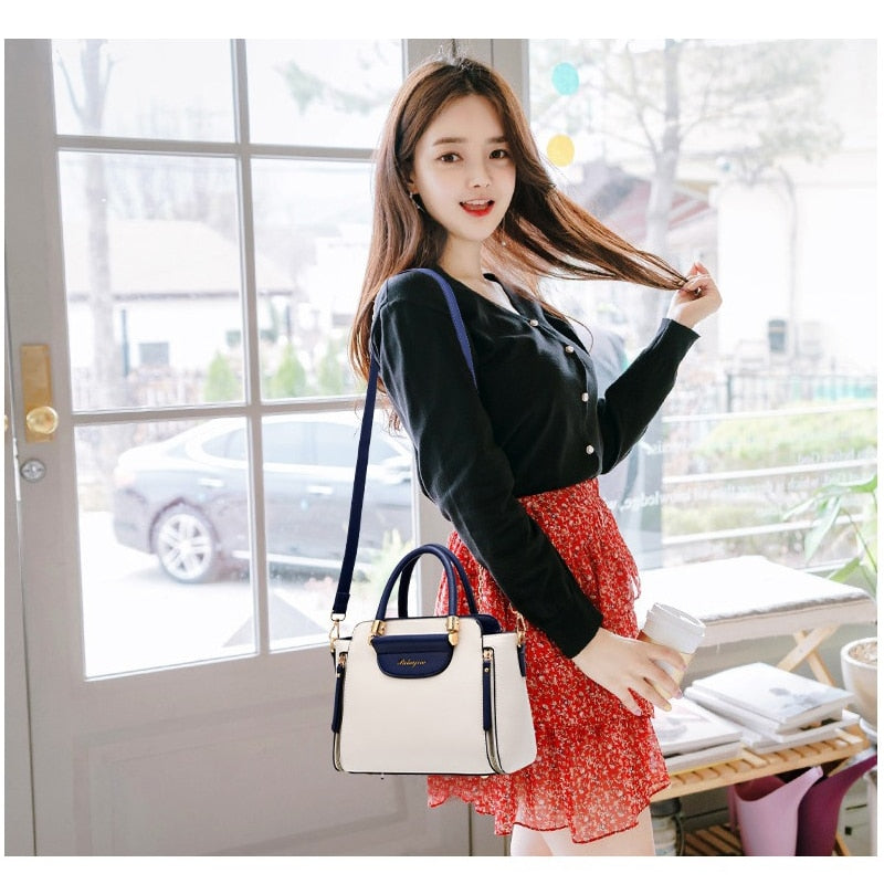 ZMQN Handbags Women's Panelled Solid Shoulder Bags For Female Hand Bag Handbags Women Famous Brands PU Leather Small Bag A846