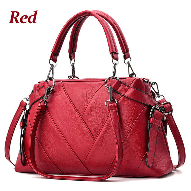 ZMQN Women Bags High Capacity Leather Handbags Mature Female Over Shoulder Bags For Womens Famous Brands Designer Handbags A857