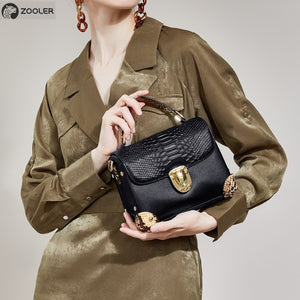 ZOOLER 2019 woman leather bags women luxury genuine leather handbag shoulder bags COW leather tote bag famous brand bolsas- B230