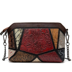 WESTAL Shoulder Bags for Women Vintage Women's Bag Genuine Leather Embossing Shell Bag Female Messenger/Crossbody Bags Handbags