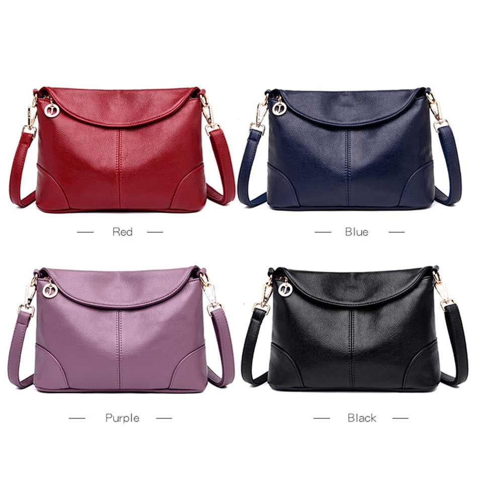 Woman Leather Luxury Handbags Designer Messenger Bag Small Ladies Shoulder Hand Crossbody Bags For Women 2019 bolsas de mujer
