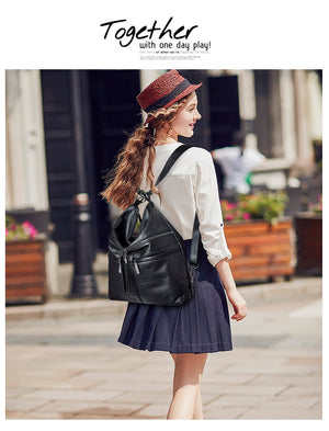 bags for women 2019 new fashion Shoulder Bags multi-function anti-theft bag Good quality and large capacity high-quality leather
