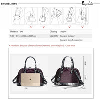 Female Famous Brand Design Crocodile Pattern Handbag Women Tote 3 Sets Ladies Composite Shell Bags For Women Crossbody Shoulder