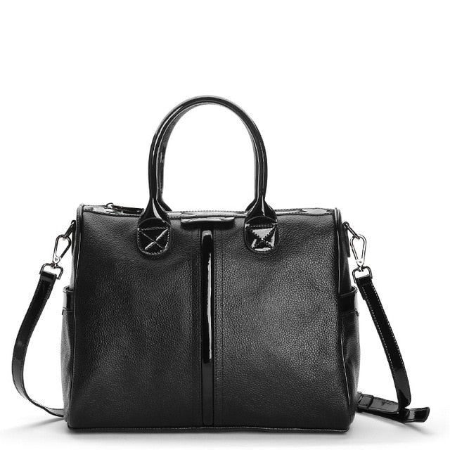 100% Genuine Leather Women Handbag Fashion Satchel Female Shoulder Bag Top-handle Bags for Women 2019  Large Capacity Tote Bag