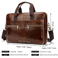 WESTAL Bag men's Genuine Leather briefcase Male man laptop bag natural Leather for men Messenger bags men's briefcases 2019