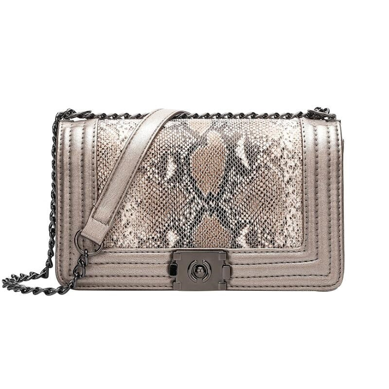 Luxury Handbag Designer Bags For Women 2020 Snake skin Messenger Bags Ladies Chain Shoulder bags Leather Clutch Purse Sac A Main