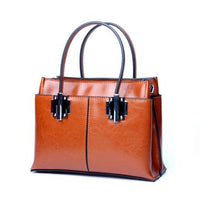 FoxTail & Lily Luxury Quality Oil Wax Cowhide Tote Handbags Women Vintage Shoulder Bag Genuine Leather Ladies Crossbody Bags