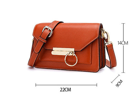 FoxTail & Lily Summer New Ladies Real Leather Shoulder Messenger Bag Luxury Designer Women Genuine Leather Small Crossbody Bags