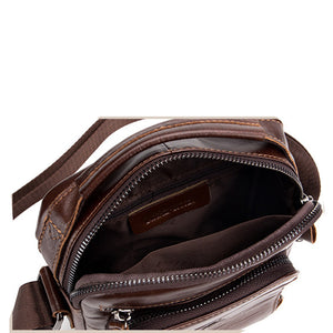 Genuine Leather men's shoulder bag retro style vertical square Cowhide leather men's bag crossbody bag messenger bag men purse