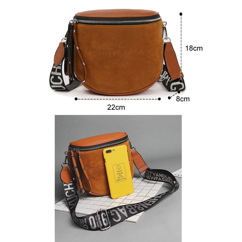 Fularuishi Crossbody Bag For Women Messemger Bags Pu Leather Shoulder Bag Fashion Famous Brand Lady Semicircle Saddle