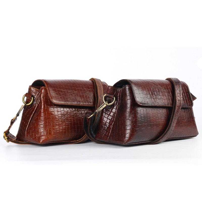 Natural Skin Women's  Cross body Shoulder Bag Female Fashion Shopping Hobo Travel Genuine Leather Ladies Sling Messenger Bags