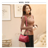 Vintage Women Handbags High Quality PU leather Casual Tote Bag Luxury Shoulder Messenger Bags Design Women Bag 2019 Sac a Main