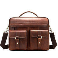 WESTAL bag men's genuine leather male briefcase laptop bag leather bags for men A4 documents bussiness tote shoulder handbag 80