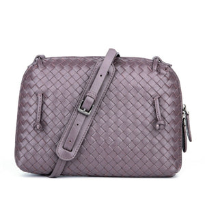 Luxury Brand Designer Women Shoulder Bag Sheepskin Handmade Woven Crossbody Bags Lady Messenger Bag Top Quality Lambskin Purse