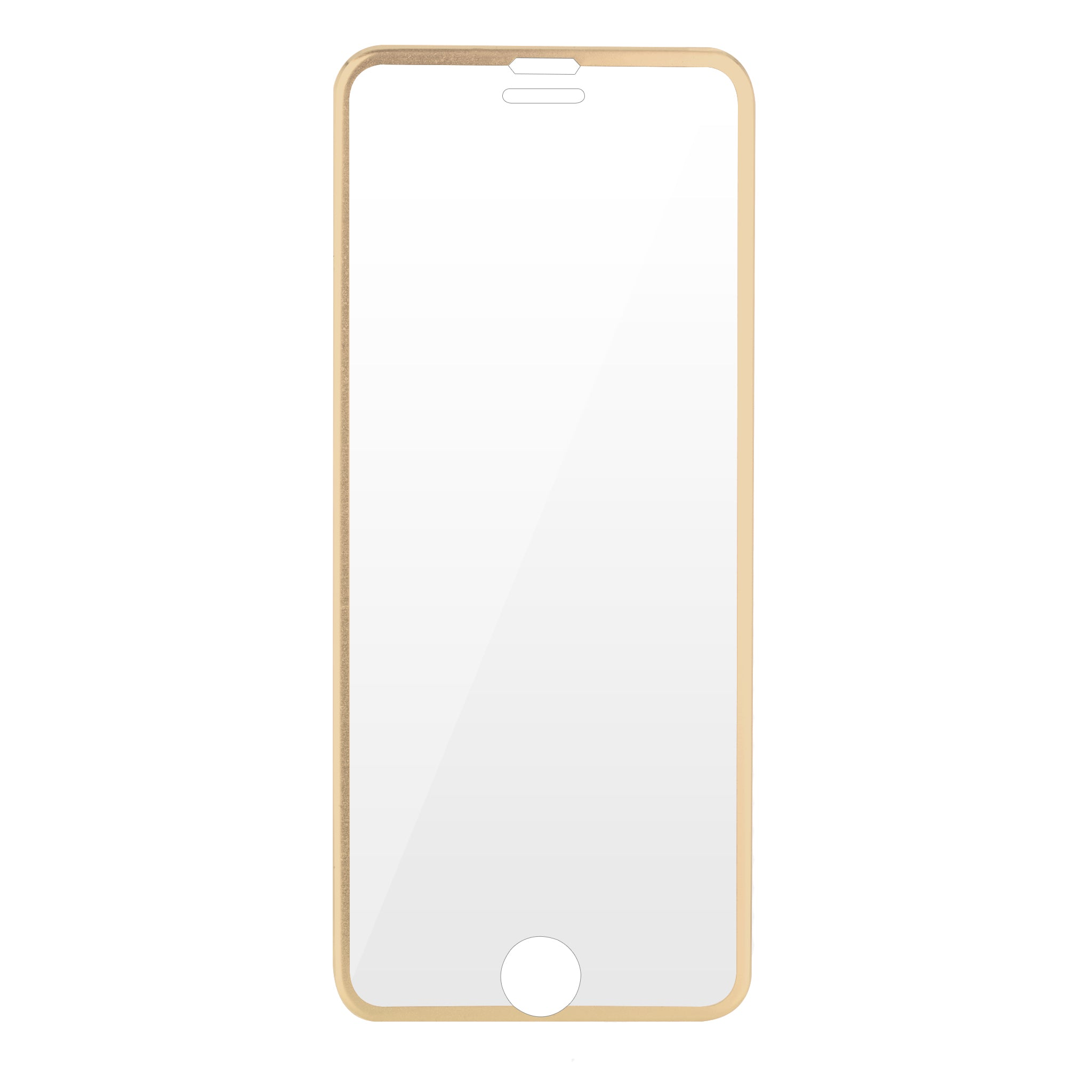 low priced 88c3c 8ff6e HAUTE Gold iPhone Compatible Metallic Rim Screen Protector