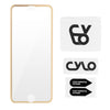 HAUTE Gold iPhone Compatible Metallic Rim Screen Protector