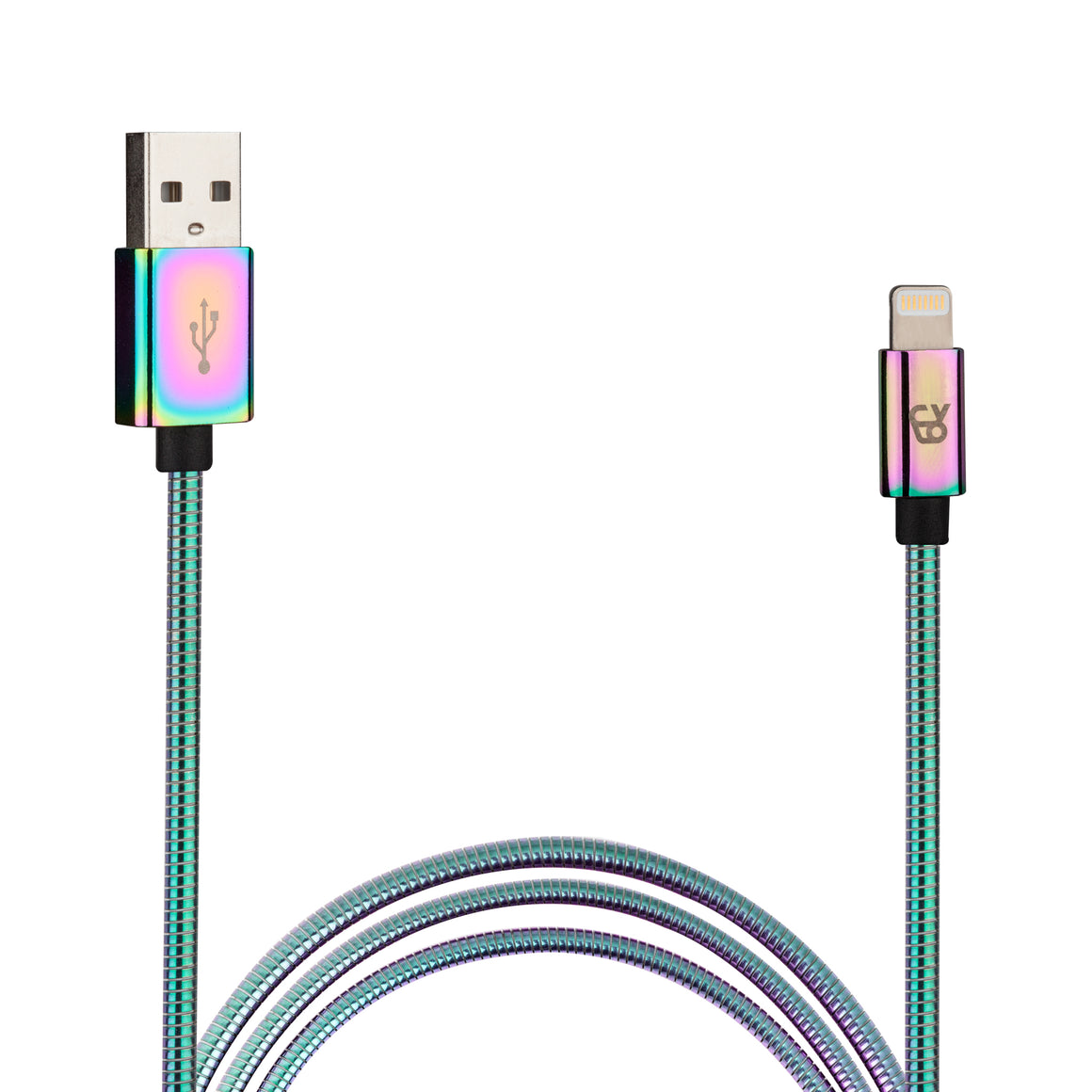 3 Ft Aluminum Iridescent Lightning Cable