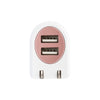 Metallic 2-Port USB Wall Charger