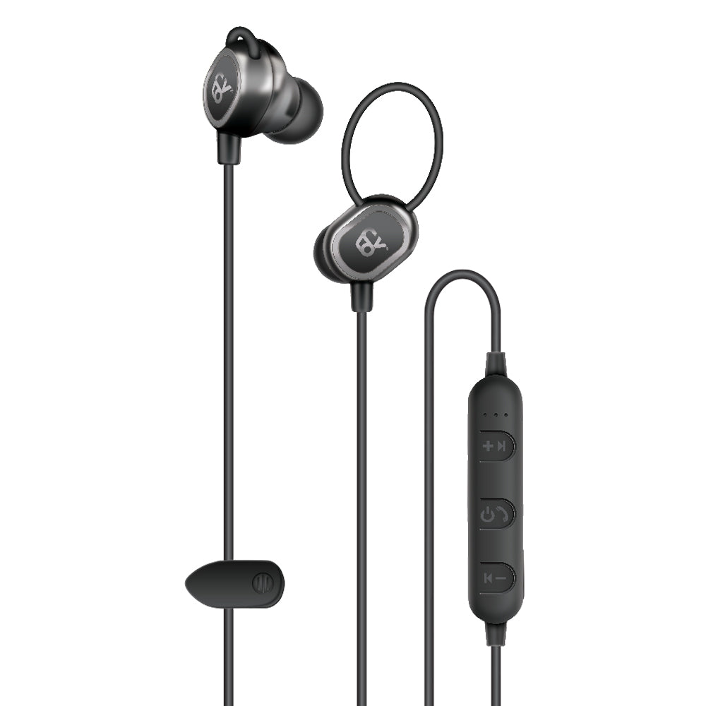FIT+ Bluetooth Earbuds with Built-in Size Guide