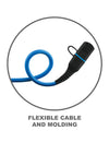 Heavy-Duty Rugged Waterproof IPX7 5ft Lightning Cable