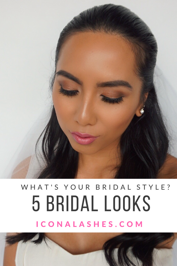 What's Your Bridal Makeup Style? 5 Bridal Looks Featuring Icona Lashes