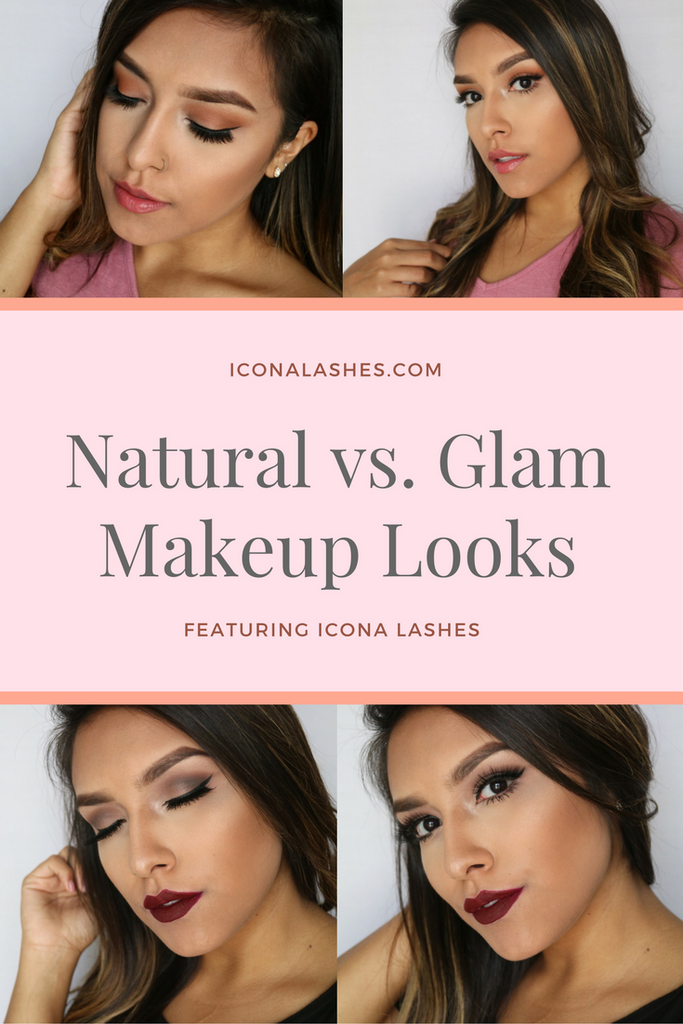 Natural Vs. Glam Looks With Icona Lashes